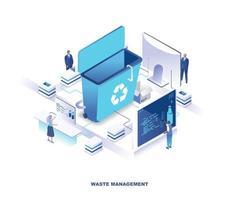 progettazione isometrica della tecnologia di gestione dei rifiuti