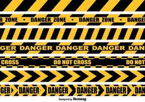 Raccolta senza cuciture del nastro del pericolo di vettore