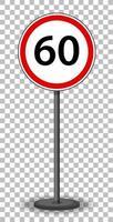 segnale stradale circolare rosso vettore
