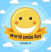 banner della giornata mondiale del sorriso