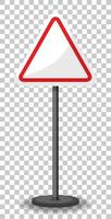 banner di traffico triangolo vuoto