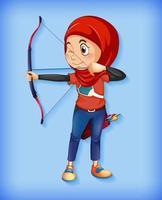 personaggio femminile arciere musulmano