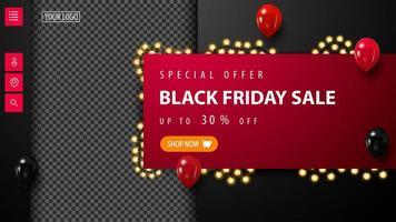 modello web di vendita venerdì nero