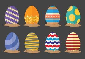 Vettore delle icone dell'uovo di Pasqua di divertimento