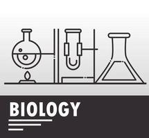 composizione di icone di biologia, chimica e scienza vettore