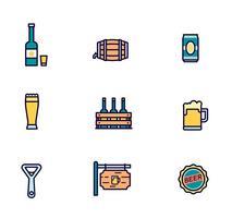 Confezione da icone vettoriali birra
