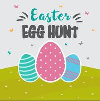 Vettore libero della carta di caccia dell'uovo di Pasqua