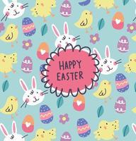 Vettore felice disegnato a mano del fondo di Pasqua