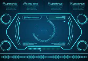 Eudimenti tecnologici di vettore di HUD