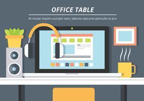 Priorità bassa di vettore del tavolo ufficio libero