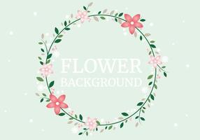 Sfondo di corona di fiori di primavera gratis vettore