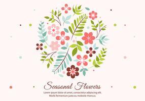 Elementi di vettore del fiore di primavera