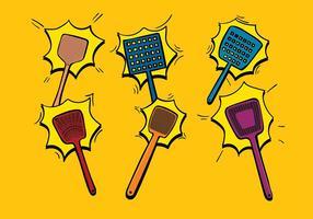 Volare Swatter Cartoon Free Vector