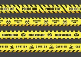 Disegni di vettore del nastro di pericolo