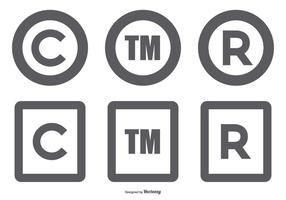 Collezione di simboli sul copyright