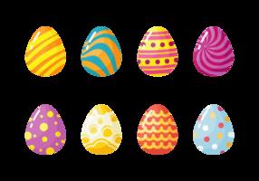 Vettore delle icone delle uova di Pasqua