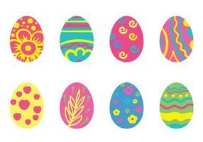 Vettore dell'icona dell'uovo di Pasqua