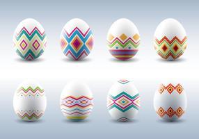 Vettori modellati tradizionali delle uova di Pasqua