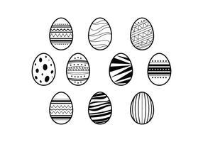 Vettore libero dell'illustrazione delle uova di Pasqua