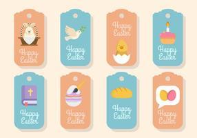 Vettori di tag regalo di Pasqua piatto