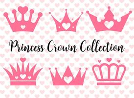 set di corone principessa vettoriale