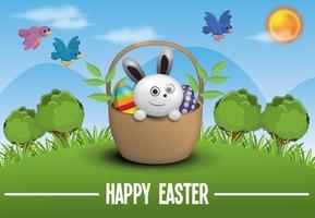 Vettore gratuito del fondo dell'illustrazione di Pasqua