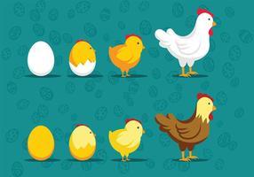 Vettori dell'icona del pulcino di Pasqua