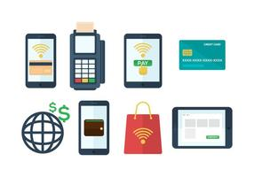 Icone di vettore di pagamento mobile gratuito