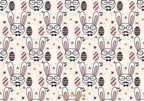 modello di Pasqua doodle hipster vettore