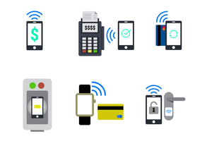 Vettore NFC in stile piatto