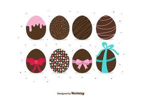 Vettore delle uova di Pasqua del cioccolato