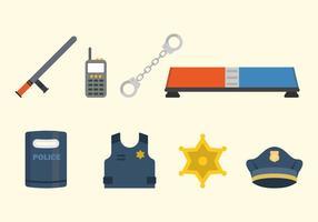 Vettori di polizia piatta