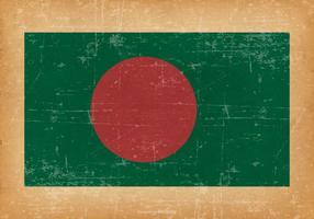 Bandiera del Bangladesh su sfondo grunge