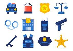 Vettore icone di polizia