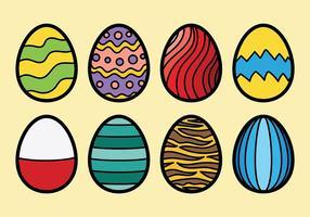 Vettore colorato delle icone delle uova di Pasqua del cioccolato