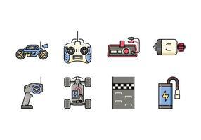 Icone di giocattoli di controllo remoto vettore