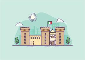 Illustrazione di Castel Nouvo vettore
