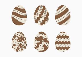 Raccolta decorativa dell'uovo di Pasqua del cioccolato vettore