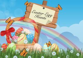 Sfondo di caccia alle uova di Pasqua