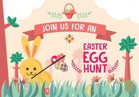 Vettore del fondo dell'invito di caccia dell'uovo di Pasqua