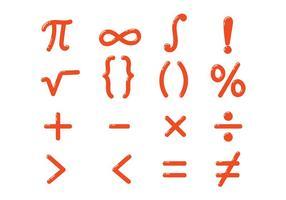 Vettore brillante di simboli di per la matematica