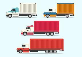 Set vettoriale di camion piatto