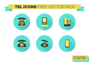 Pacchetto gratuito di icone vettoriali di telefono