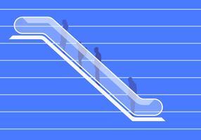 Illustrazione moderna scala mobile vettore