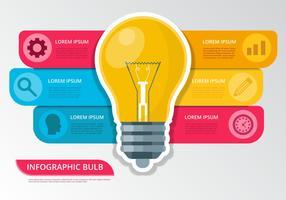 Vettore di Infographic di idea della lampadina