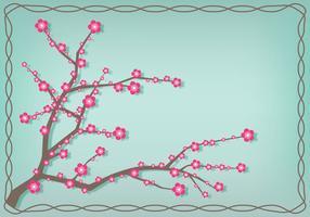 Illustrazione giapponese del fiore della prugna vettore