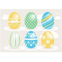 Raccolta degli elementi di vettore delle uova di Pasqua