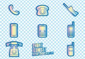Simboli delle icone del telefono vettore