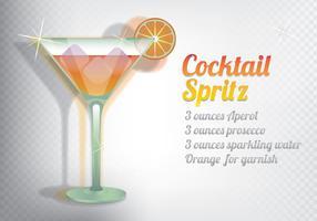 Spritz Cocktail vettore