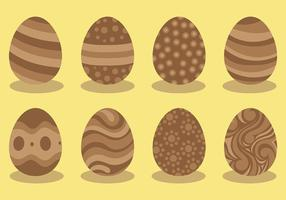 Vettore libero delle icone delle uova di Pasqua del cioccolato